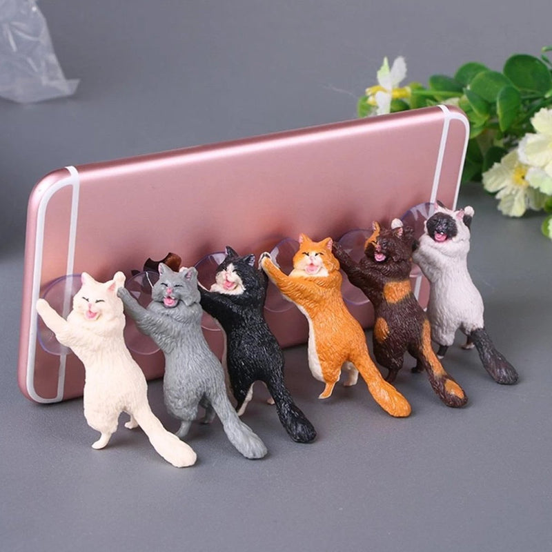 Cat Phone Holder - Set Of 3-GADGET ACCESSORIES-PropShop24.com