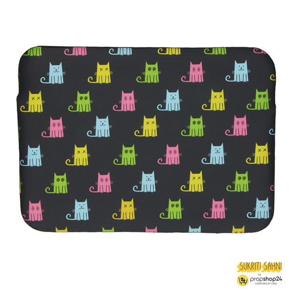 Laptop Sleeve - Multicolour Cats with Black Background-Gadgets-PropShop24.com