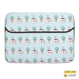 Laptop Sleeve - Icecream And Coffee-LAPTOP SLEEVES-PropShop24.com