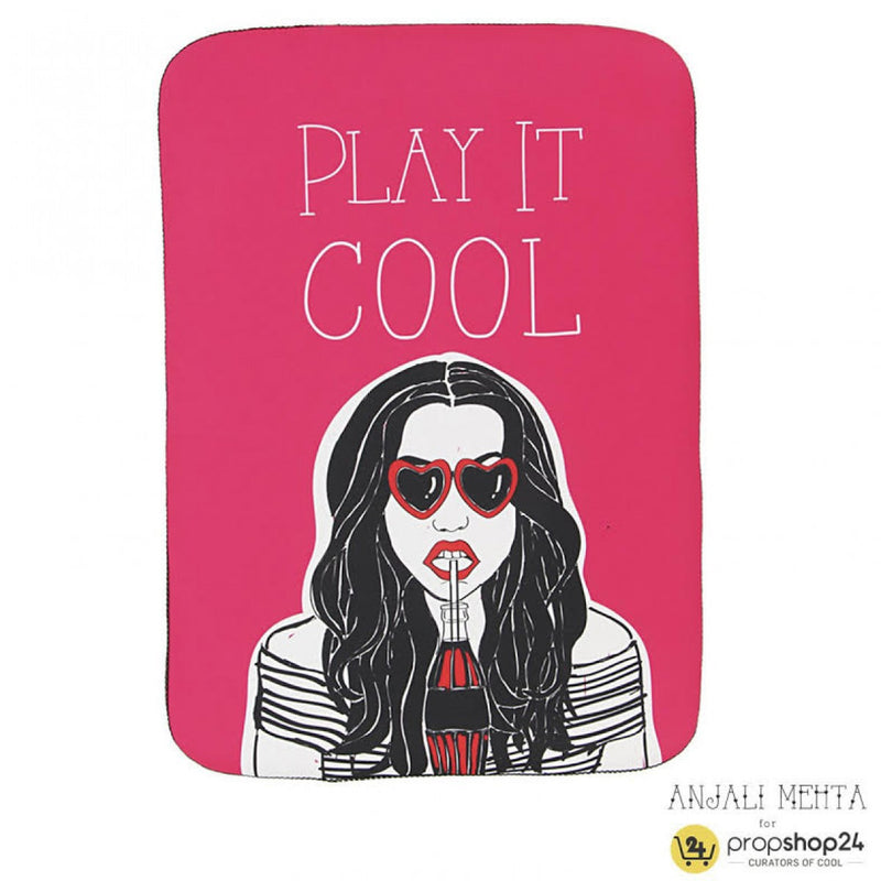 Laptop Sleeve - Play It Cool - Pink-LAPTOP SLEEVES-PropShop24.com