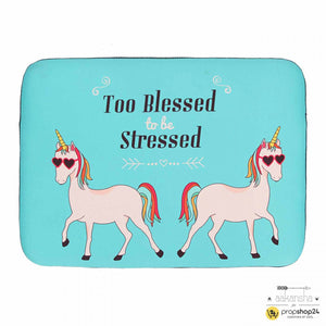 Laptop Sleeve - Too Blessed To Be Stressed-LAPTOP SLEEVES-PropShop24.com