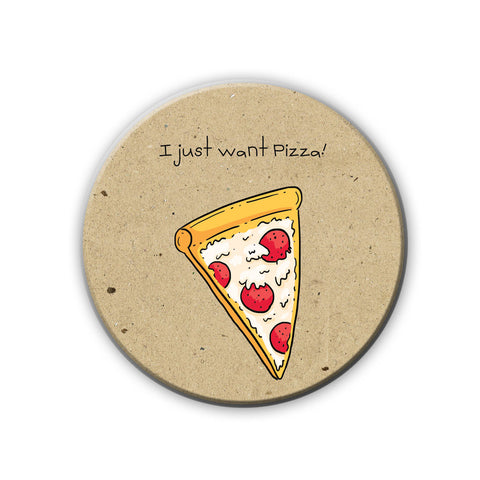 Magnet / Badge - Pizza