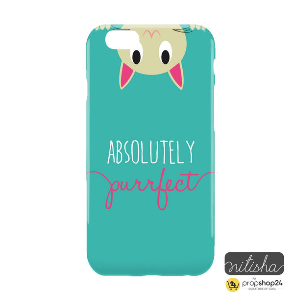 Absolutely Purrfect Green Phone Case - propshop-24 - 2