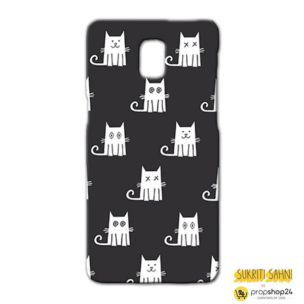 White Cats With Black Background - Phone Case-Gadgets-PropShop24.com