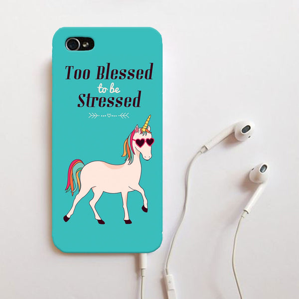 Buy Too Blessed To Be Stressed Phone Case Online ...