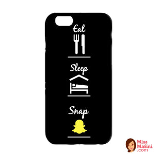 Eat Sleep Snap Black Phone Case-PHONE CASES-PropShop24.com