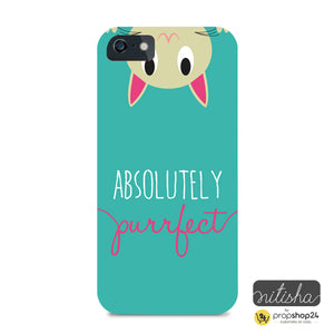 Absolutely Purrfect Green Phone Case-PHONE CASES-PropShop24.com