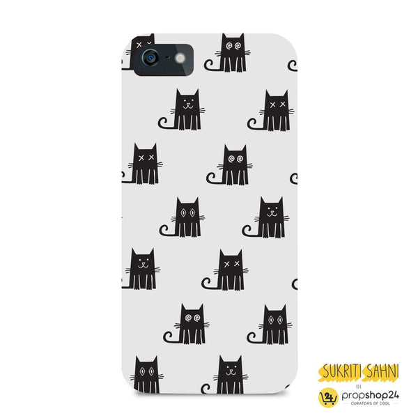 Black Cats With White Background - Phone Case-Gadgets-PropShop24.com