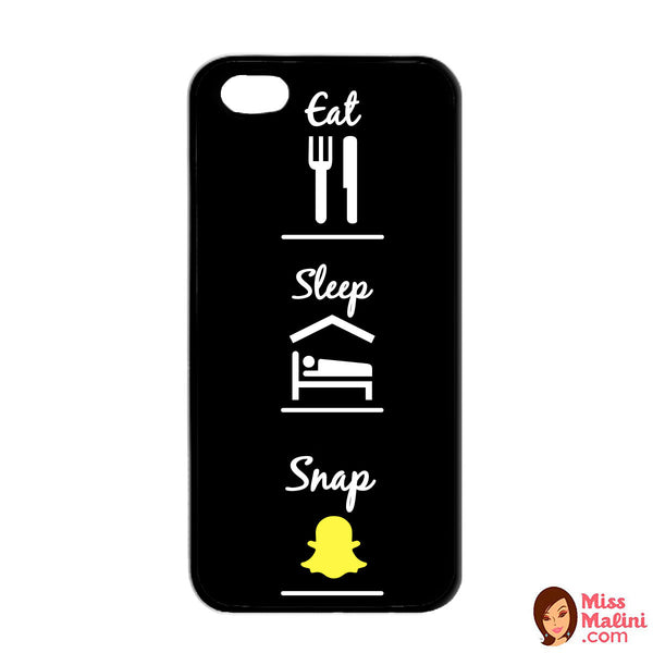 Eat Sleep Snap Black Phone Case - propshop-24 - 1