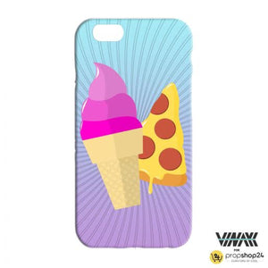 Comic Ice Cream + Pizza Phone Case-PHONE CASES-PropShop24.com