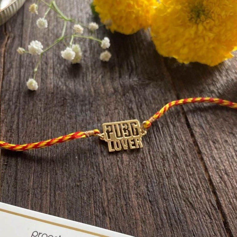 Rakhi - PUBG Lover - Yellow Gold-PropShop24.com