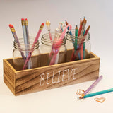 Organiser - Believe - Set of 3 Jars-HOME-PropShop24.com
