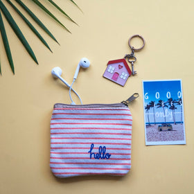 Coin Pouch - Peach Stripe-FASHION-PropShop24.com