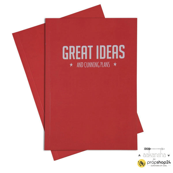 Sketchbook - Great Ideas & Cunning Plans-Stationery-PropShop24.com