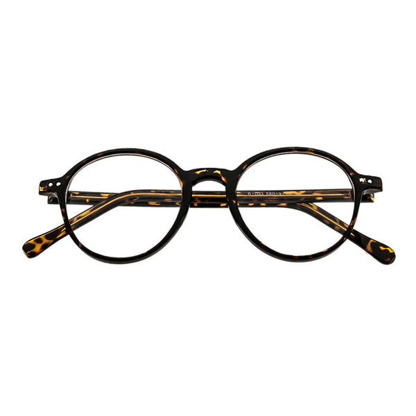 Reading Glasses - Old School Demi Amber Round Frame - propshop-24 - 1