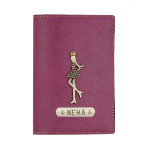 Personalized - Passport Cover With Charms - Purple - C.O.D Not Available-TRAVEL ESSENTIALS-PropShop24.com