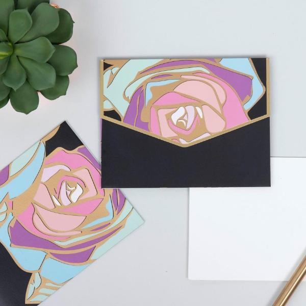 Note card Set - Purple Abstract-GIFTING ACCESSORIES-PropShop24.com