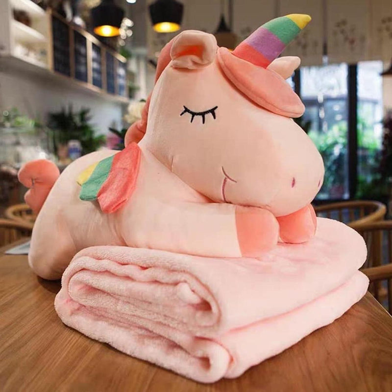 Pillow Cushion And Blanket - Unicorn-HOME ACCESSORIES-PropShop24.com