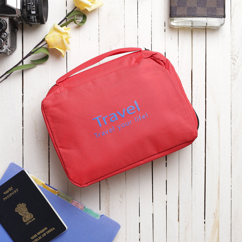 Multipurpose Travel Pouch - Red-TRAVEL ESSENTIALS-PropShop24.com