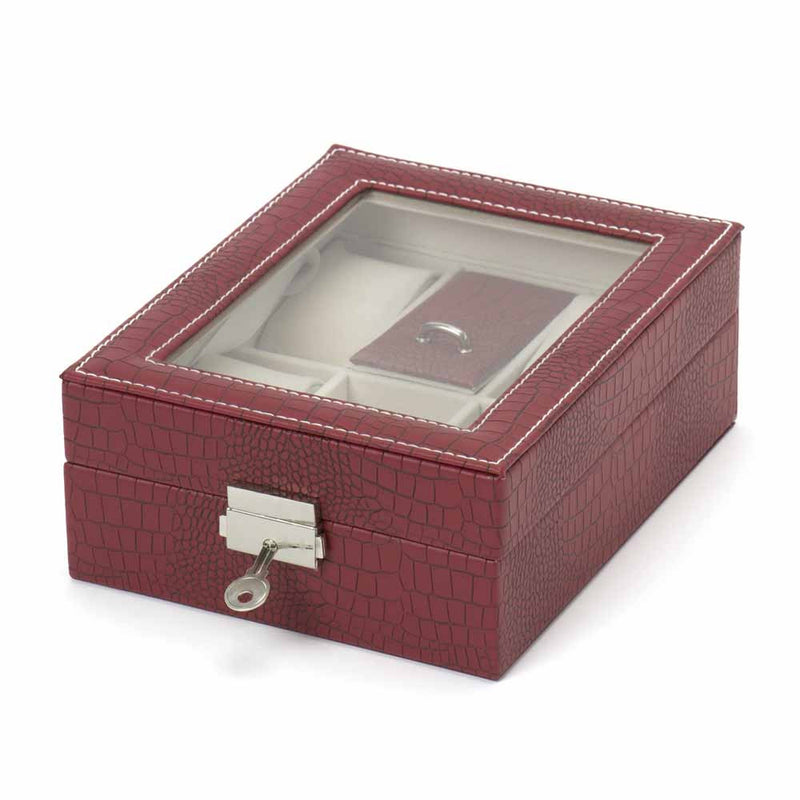 4 Slot Watch/ Jewellery Box Organizer - Red-ORGANIZERS-PropShop24.com