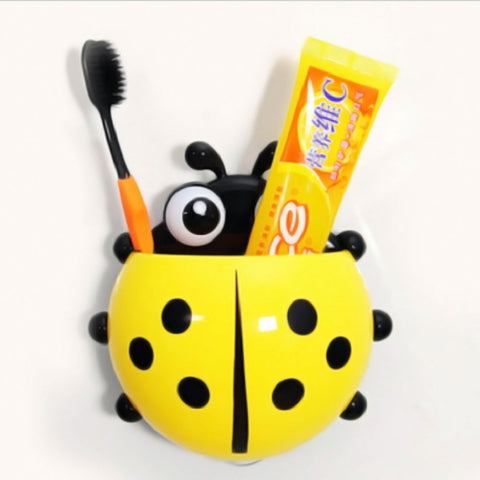 Lady Bug Toothbrush Holder - Yellow-PropShop24.com
