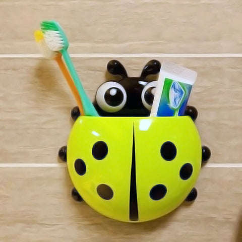 Lady Bug Toothbrush Holder - Green