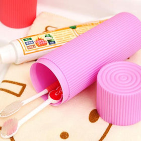 Travel Toothbrush Holder - Pink-HOME-PropShop24.com