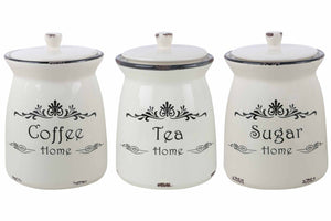 Tea & Coffee Canister Set Of 3-DINING + KITCHEN-PropShop24.com
