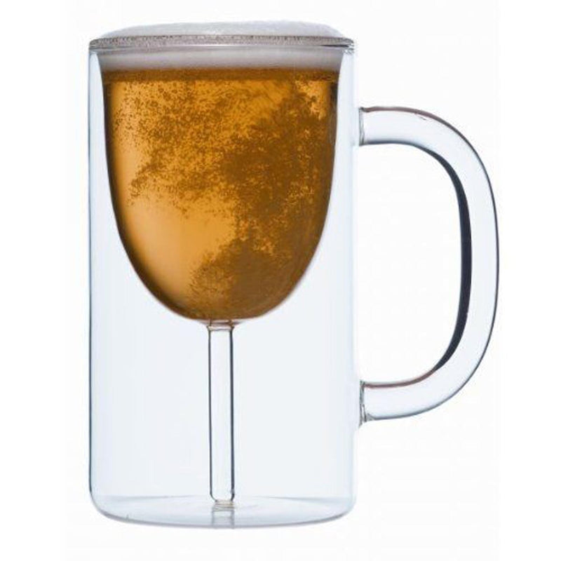 Beer Glass - Double Wall - Set Of 2-BAR + PARTY-PropShop24.com