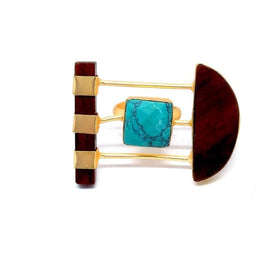 Ring - Anemone - Teal-JEWELLERY-PropShop24.com