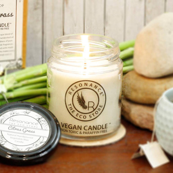 Candles Citrus Grass - Mosquitoe Repellent Natural Wax Aroma Medium Jar Candle-HOME-PropShop24.com