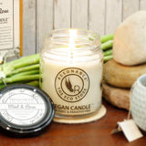 Candles Mint and Rose Fragrance Natural Wax Aroma Medium Jar Candle-HOME-PropShop24.com