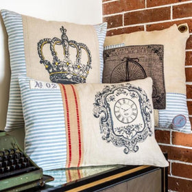 PARIS CLOCK CUSHION-HOME-PropShop24.com
