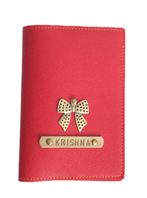 Personalized - Passport Cover With Charms - Red - C.O.D Not Available-TRAVEL ESSENTIALS-PropShop24.com