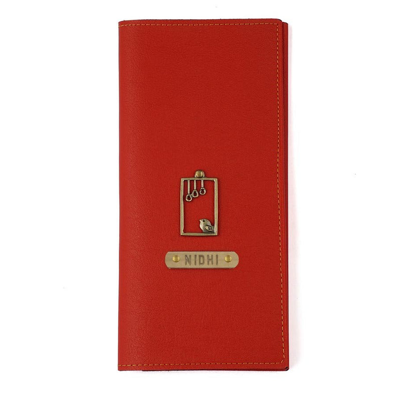 Personalized - Travel Wallet And Folder - Red - C.O.D Not Available-MEN-PropShop24.com