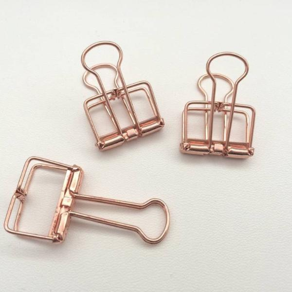 Binder Clips - Rose Gold - Set Of 8-STATIONERY-PropShop24.com