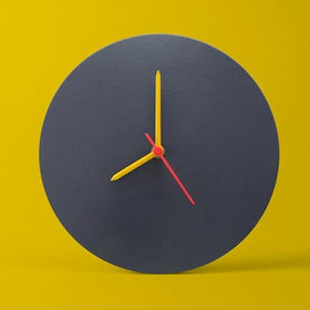 Dark Grey Wall Clock-HOME ACCESSORIES-PropShop24.com
