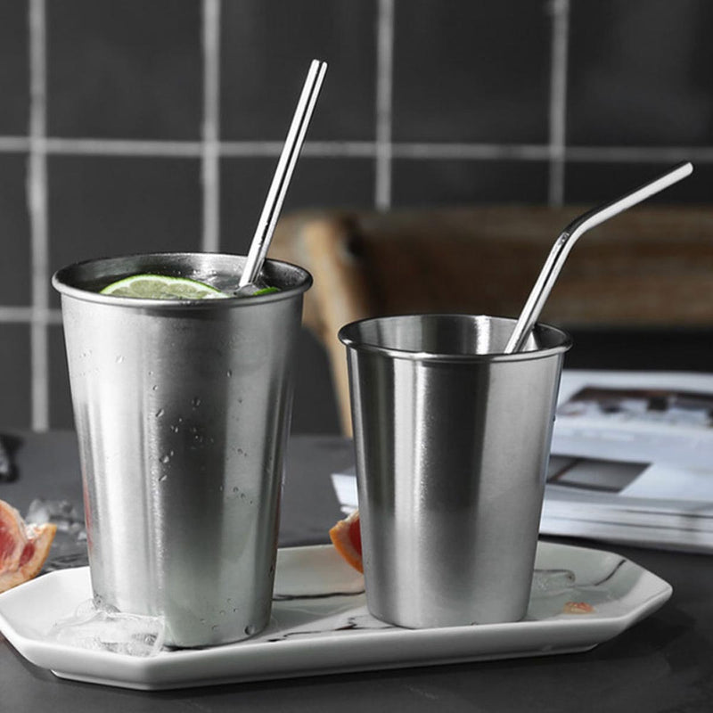 Reusable Drinking Metal Straws With Brush-BAR + PARTY-PropShop24.com