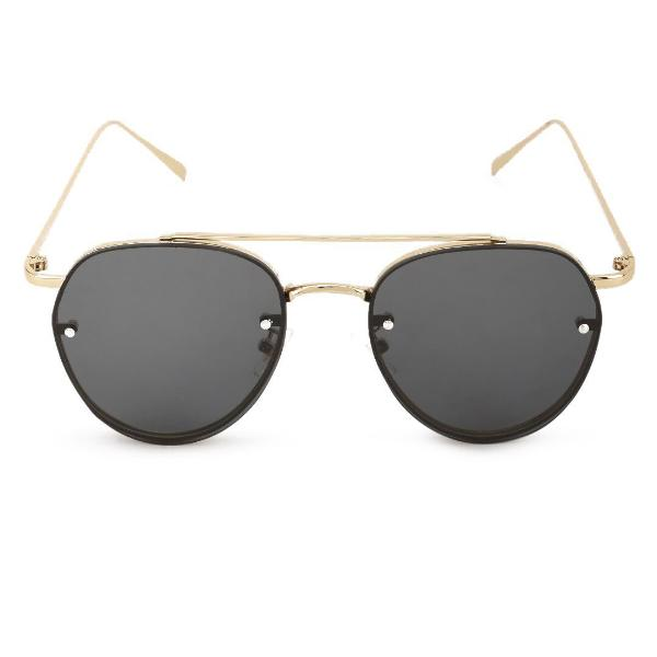 be6457d6e07 Round Double Bridge Black And Gold Sunglasses-FASHION-PropShop24.com