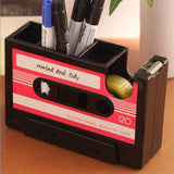 Rewind Desk Tidy - Red-Stationery-PropShop24.com