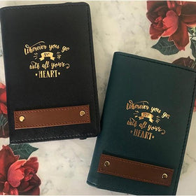 Personalized - couple Passport Cover - Black and bottle green - C.O.D NOT AVAILABLE-FASHION-PropShop24.com