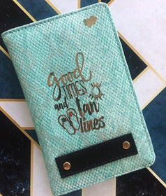 Personalized - Passport Cover - Good Times - Mint Blue - C.O.D NOT AVAILABLE-FASHION-PropShop24.com