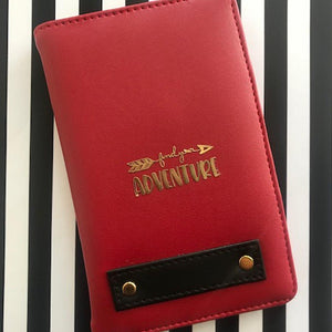 Personalized Passport Cover - Red - Find Your Own Adventure - C.O.D Not Available-TRAVEL ESSENTIALS-PropShop24.com