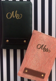 Personalized - Passport Cover - Couple - Peach and Bottle Green - C.O.D NOT AVAILABLE-FASHION-PropShop24.com