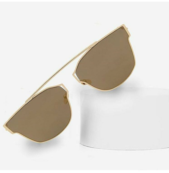 Sunglasses - Nicole - Gold-FASHION-PropShop24.com