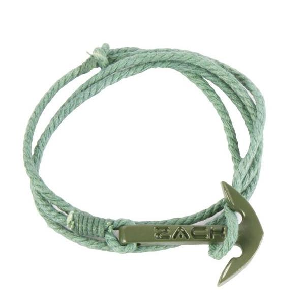 Bracelet - Solid Anchor Green Cord-MEN-PropShop24.com