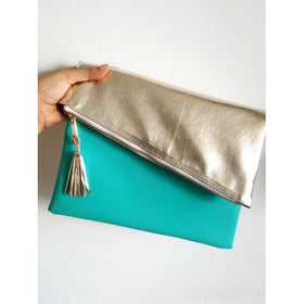 Clutch - Teal and gold-Fashion-PropShop24.com