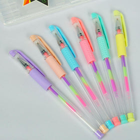 Stationery - Rainbow Gel Pens - Set Of 6-STATIONERY-PropShop24.com