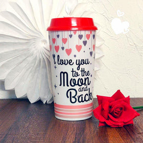 Coffee Sipper Cup With Sipper Lids - Love You To The Moon And Back-HOME-PropShop24.com