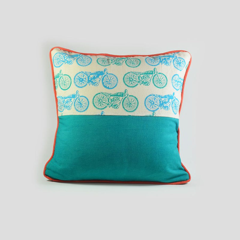 Cushion Cover - Bike Turquoise-HOME ACCESSORIES-PropShop24.com
